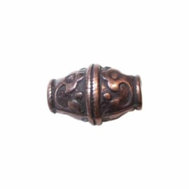 Copper colored bead, big hole (4 mm)