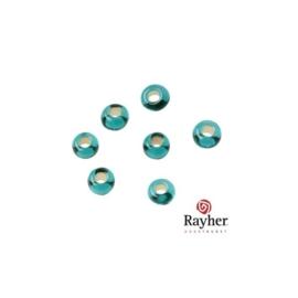 Jadegroene rocaille met zilverkern 2,6 mm  van Rayher
