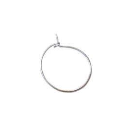 Silver colored winecharm 12 mm