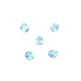 Turquoise glazen facetkraal 4mm