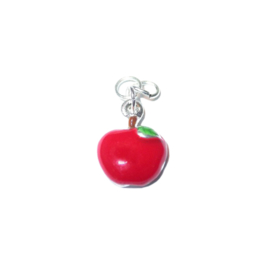 Apple charm with red and green