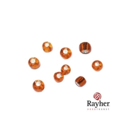 Oranje rocaille met zilverkern 2,6mm van Rayher