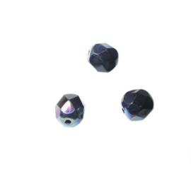 Onyx glazen facetkraal 6 mm