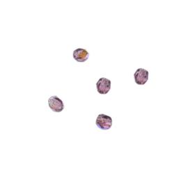 Amethyst, glazen facetkraal 4 mm