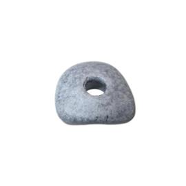 Grijze donut van keramiek