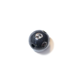 Zwarte ronde kunststof kraal