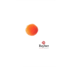 Oranje pompon 10 mm van Rayher