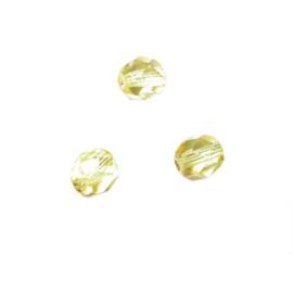Gele glazen facetkraal 6 mm