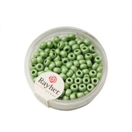 Groene metallic ronde rocailles 4 mm van Rayher.