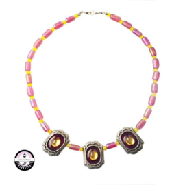 Necklace made with Metalcoloured beads
