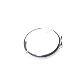 Zilverkleurige ring met plaatje van 7 mm