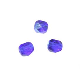 Safier glazen facetkraal 6 mm