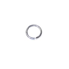 Zilverkleurige buigring 9 mm