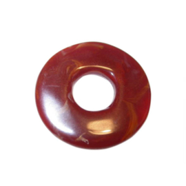 Roodbruine polyester ring