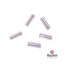 Roze glasstift 7/2 mm met zilverkern