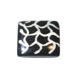 Brown/Black divider made of bone with white decoration