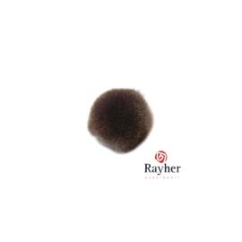 Bruine pompon 15 mm van Rayher