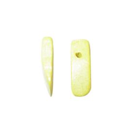 Gele haaientand van hout