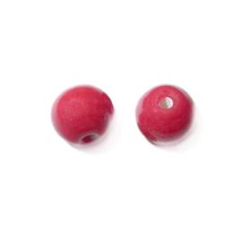 Rode, ronde glaskraal