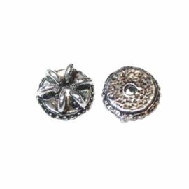 Metalen kraal met 5 oogjes