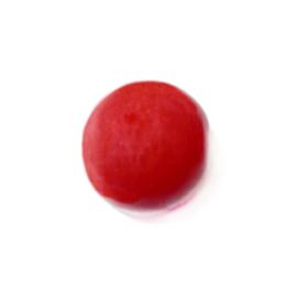 Rode, ronde glaskraal luster
