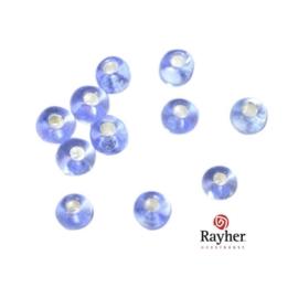 Lichtblauwe rocaille met zilverkern 2,6 mm van Rayher