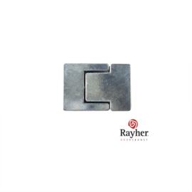 Oud zilverkleurige magneetsluiting van Rayher,