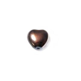 Parel Bruin, hartje 8 mm
