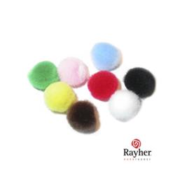 Pompons gemengd 25 mm van Rayher, 10 stuks