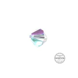 Crystal AB Swarovski bicone kraal 8 mm