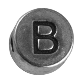 "Silver colored metal letter bead ""B"" from Rayher"