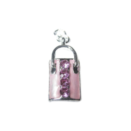 Bag Charm made of metal with pink