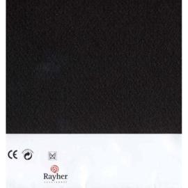 Zwart textielvilt soft 30 x 45 cm van Rayher