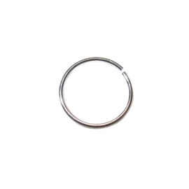 Silver colored Jump ring 15 mm