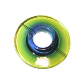 Groene polyester donut