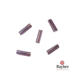 Donker lila glasstift 7/2 mm met zilverkern van Rayher