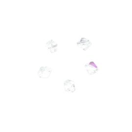 Bergkristallen, Tsjechische facetkraal 4 mm