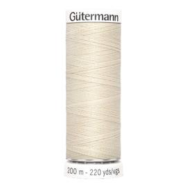 Nr 169 Beige Gutermann alles naaigaren 200 m.
