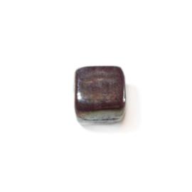 Vierkante paarse glaskraal Lustré