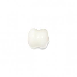 Witte diaboolvormige glaskraal