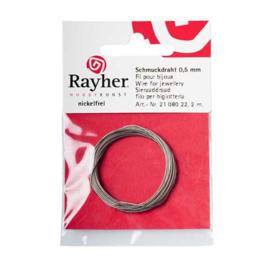 Sierdraad 0,5mm Zilver van Rayher