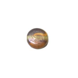 Platte bruine glaskraal luster