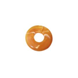 Oranje bruine polyester ring