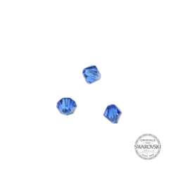 Capri Blue Swarovski bicone bead 4 mm