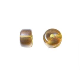 Bruine cilindervormige glaskraal luster