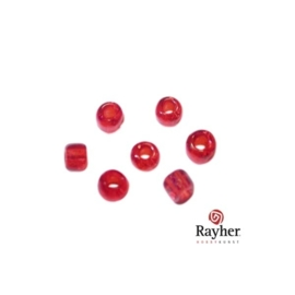 Red rocaille, 2,6 mm, Transparent