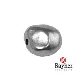 Zilverkleurige metalen kraal