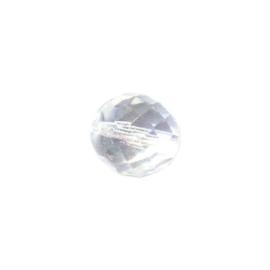 Kristal glazen facetkraal 12 mm