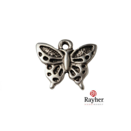 Silver colored metal pendant  Butterfly