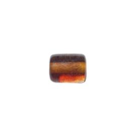 Bruine doorzichtige cilinder glaskraal
